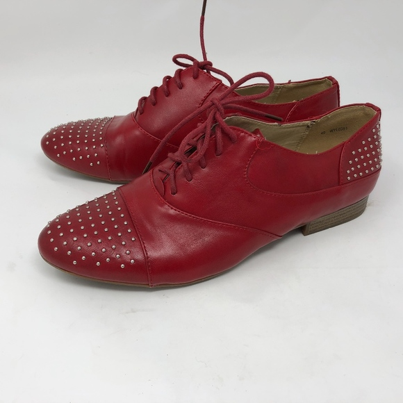 ab61a5577 Jenny Fairy Shoes   Red Studded Oxfords 40   Poshmark